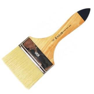 Флейц «Kolos» Wide8043 Щетина плоская №100 короткая ручка белый ворс