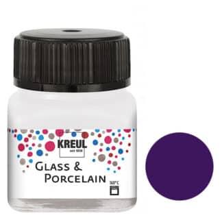 Краска по фарфору и керамике на водной основе KR-16212 Фиолетовая 20 мл Hobby Line C.KREUL