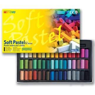 Набор сухой мягкой пастели 48 цветов 1/2 квадратная MPS-48 Mungyo