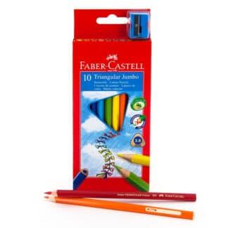 Набор цветных карандашей Jumbo 10 цветов трехгранные Faber-Castell