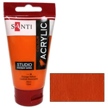 Акриловая краска Santi Studio Кадмий оранжевый 75 мл Великобритания