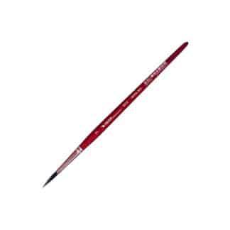 Кисточка «Автор» 5072 Белка имитация круглая №07 короткая ручка красная АртАвангард