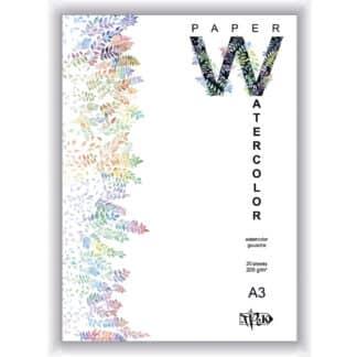 Планшет для акварели А3 (29,7х42 см) бумага рисовальная Словакия 200 г/м.кв. 20 листов «Трек» Украина
