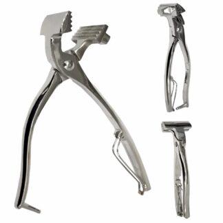 13906 Щипцы, никелированная сталь, ширина 6 см, ручка 20 см D.K.Art&Craft