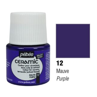 Краска-эмаль лаковая непрозрачная 012 Пурпурный 45 мл Ceramic Pebeo