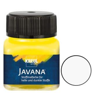 Краска по тканям и коже прочная нерастекающаяся KR-90953 Белый 20 мл Opak Javana C.KREUL