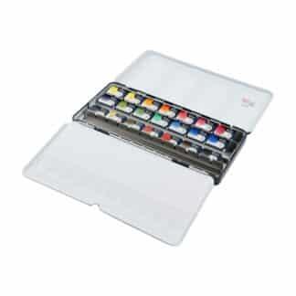 Набор акварельных красок «Классика» Rosa Gallery 21 цвет по 2,5 мл металлическая коробка