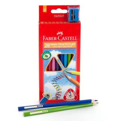 Набор цветных карандашей Jumbo 20 цветов трехгранные Faber-Castell