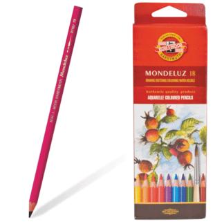 Набор акварельных карандашей Mondeluz 18 цветов Koh-i-Noor