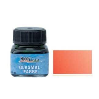 Краска для стекла лаковая прозрачная 45202 Красная светлая 20 мл Hobby Line C.KREUL