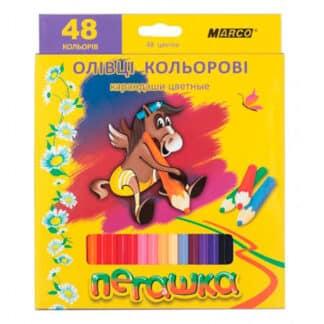 1010-48CB карандаши цветные 48 цветов шестигр. «Пегашка» Marco