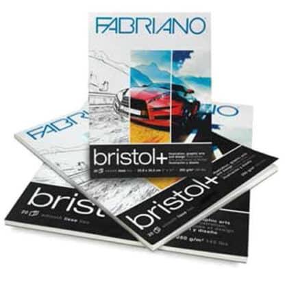 19002129 Альбом для рисования Bristol А4 (21х29,7 см) 250 г/м.кв. 20 листов склейка Fabriano Италия