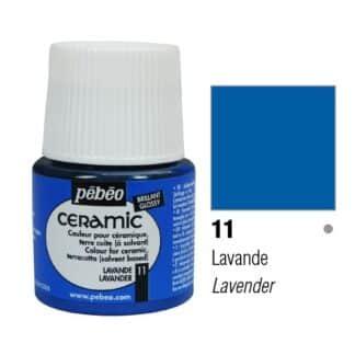 Краска-эмаль лаковая непрозрачная 011 Лаванда 45 мл Ceramic Pebeo