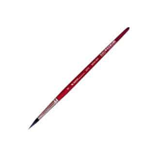 Кисточка «Автор» 5072 Белка имитация круглая №08 короткая ручка красная АртАвангард