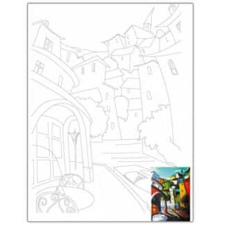 Холст на картоне с контуром 30х40 см «Пейзаж №15» 3815 Rosa Talent