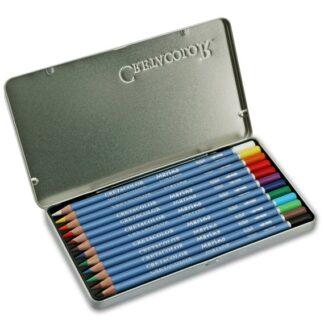 Набор акварельных карандашей Marino 12 цветов в металлической коробке Cretacolor