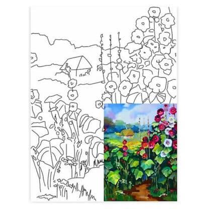 Холст на картоне с контуром 30х40 см «Пейзаж №17» 3817 Rosa Talent