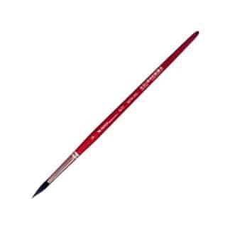 Кисточка «Автор» 5072 Белка имитация круглая №09 короткая ручка красная АртАвангард