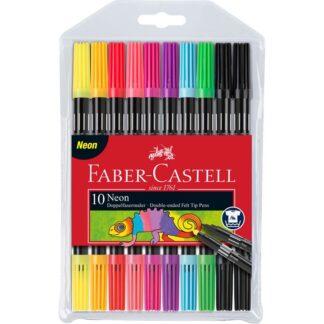 Набор фломастеров Fibre-Tip «Neon» 10 цветов Faber-Castell 151109