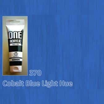 Акриловая краска ONE 120 мл 370 кобальт синий светлый (имитация) Maimeri Италия