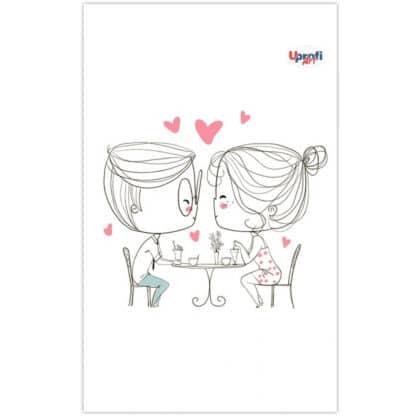 Блокнот «lovers in a cafe» В6 (125х176 мм) 70 г/м.кв. 80 листов склейка Profiplan