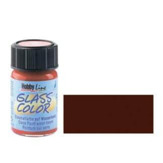 Краска для стекла Glass Color 42417 Коричневая 20 мл Hobby Line C.KREUL