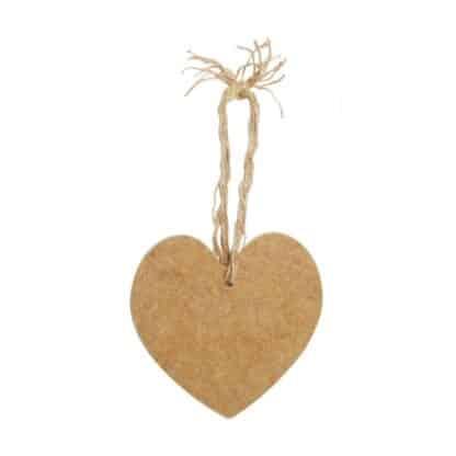 Заготовка деревянная Панно «Серце з підвісом» (набор 2 шт.) 85х70 мм МДФ Rosa Talent