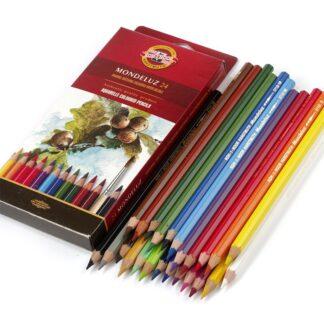 Набор акварельных карандашей Mondeluz 24 цвета Koh-i-Noor