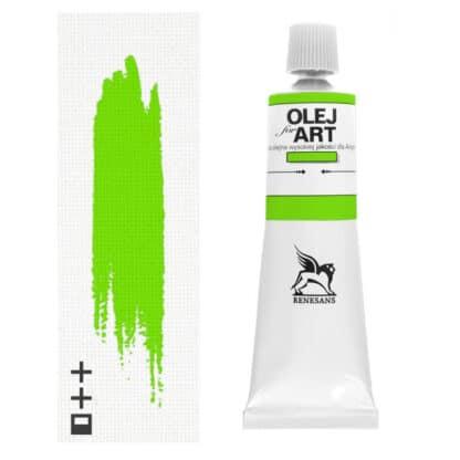 Масляная краска 36 Зеленый ценнобер светлый 60 мл Renesans Польша