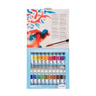 Набор акварельных красок 20 цв. туба 10 мл + кисточка, пластик, VAN GOGH, Royal Talens