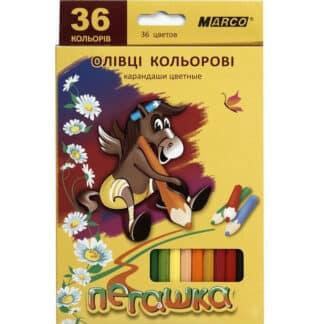 1010-36CB Карандаши цветные 36 цв. шестигр. «Пегашка» Marco