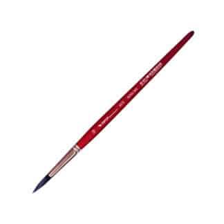 Кисточка «Автор» 5072 Белка имитация круглая №10 короткая ручка красная АртАвангард