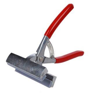 13908 Щипцы, никелированная сталь, ширина 12 см, пружина, красная ручка D.K.Art&Craft