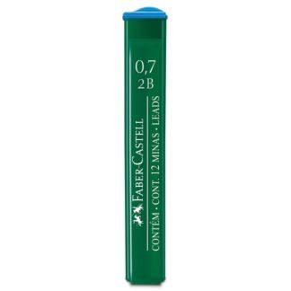 Грифель 0,7 мм 2B 12 штук в пенале Faber-Castell 9127