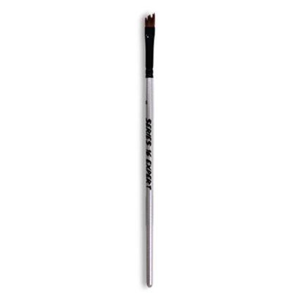 Кисточка «Expert» Series 16 Зубчатая скошенная Синтетика плоская три линии № 06 двухцветный ворс