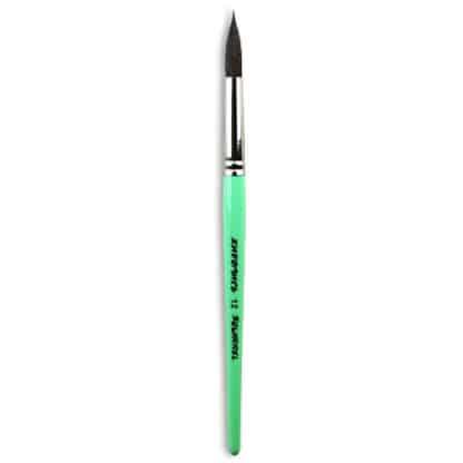 Кисточка «Живопись» 4121 Белка круглая № 12 короткая ручка черный ворс