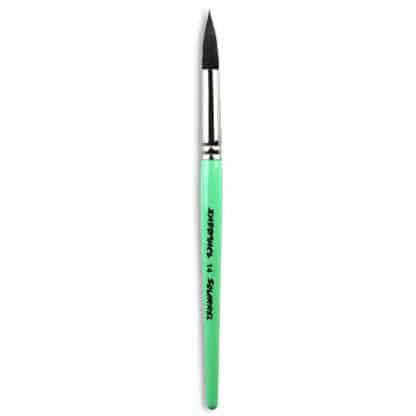 Кисточка «Живопись» 4121 Белка круглая № 14 короткая ручка черный ворс