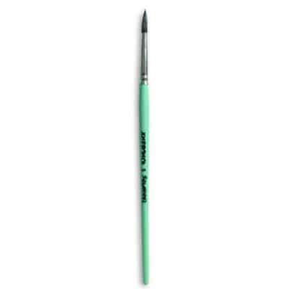Кисточка «Живопись» 4121 Белка круглая № 05 короткая ручка черный ворс