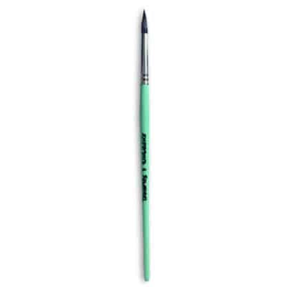 Кисточка «Живопись» 4121 Белка круглая № 06 короткая ручка черный ворс