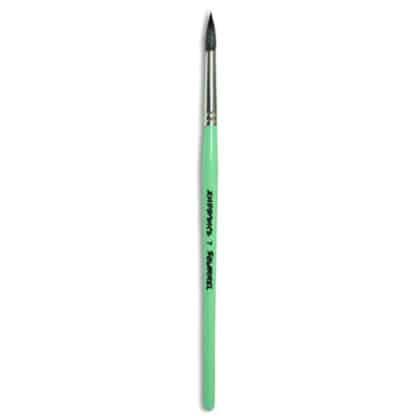 Кисточка «Живопись» 4121 Белка круглая № 07 короткая ручка черный ворс