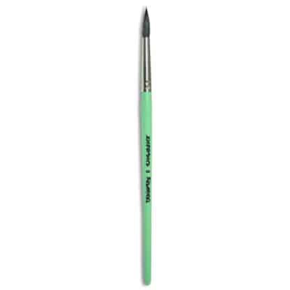 Кисточка «Живопись» 4121 Белка круглая № 08 короткая ручка черный ворс