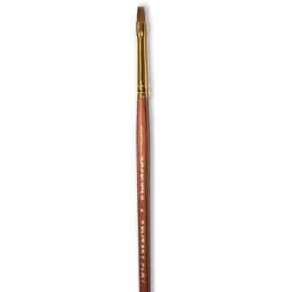 Кисточка «Живопись» 3122 Колонок плоская № 02 короткая ручка рыжий ворс