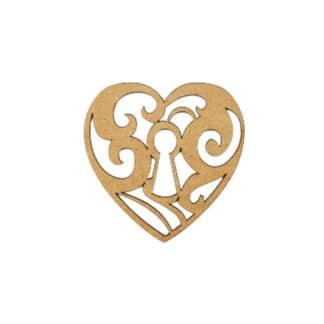 Заготовка деревянная Фигурка «Сердце 11» (набор 2 шт.) 100х100 мм МДФ Rosa Talent