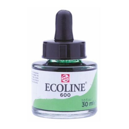 Акварельная краска жидкая Ecoline 600 Зеленый 30 мл с пипеткой