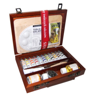 Подарочный набор масляных красок 11х20 мл дерево (24х32см)  Renesans