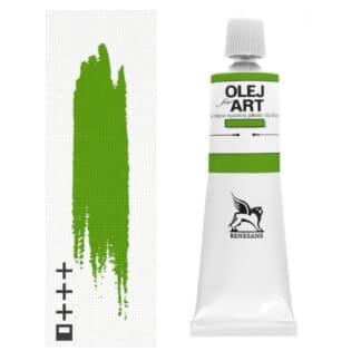 Масляная краска 37 Зеленый ценнобер темный 60 мл Renesans Польша