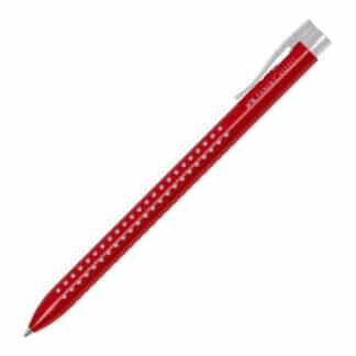 Ручка шариковая Grip2022 красная трехгранная автоматическая Faber-Castell
