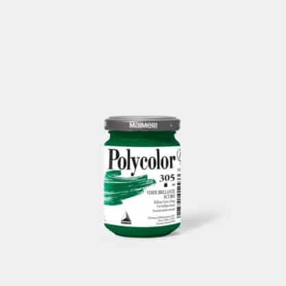 Акриловая краска Polycolor 140 мл 305 зеленый темный яркий Maimeri Италия