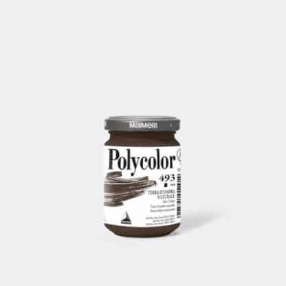 Акриловая краска Polycolor 140 мл 493 умбра натуральная Maimeri Италия