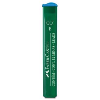 Грифель 0,7 мм B 12 штук в пенале Faber-Castell 9127